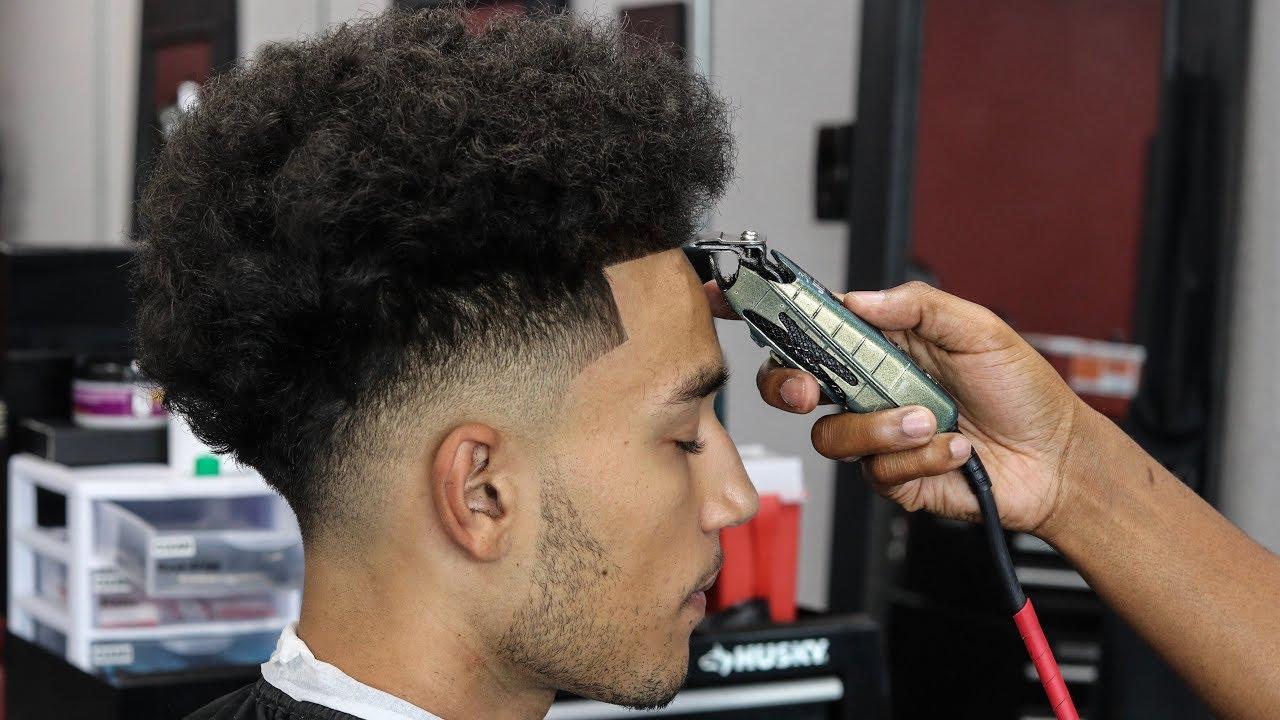 Drop Fade W Beard Line Up Haircut Tutorial Mr Cottontop